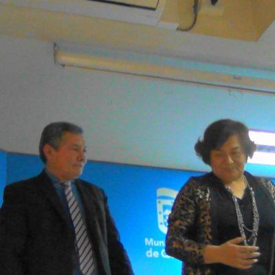 En Quilicura presentando el Libro de Nancy Ramírez Entre Letras y Pensamientos