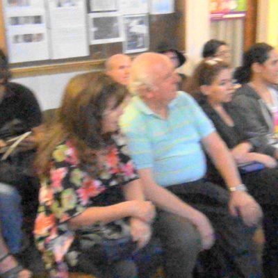Maestra Silvia Sandoval, Juan Pablo Délano en elanzamiento del libro Tèllez Selecto.