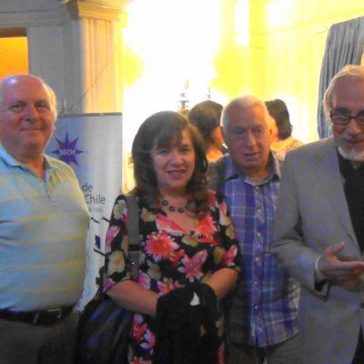Juan Pablo Délano, Silvia Sandoval, Claudio Shuedeck y Mario Lorca