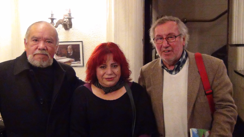 Con Rolando Rojo y Gregorio Angelcos