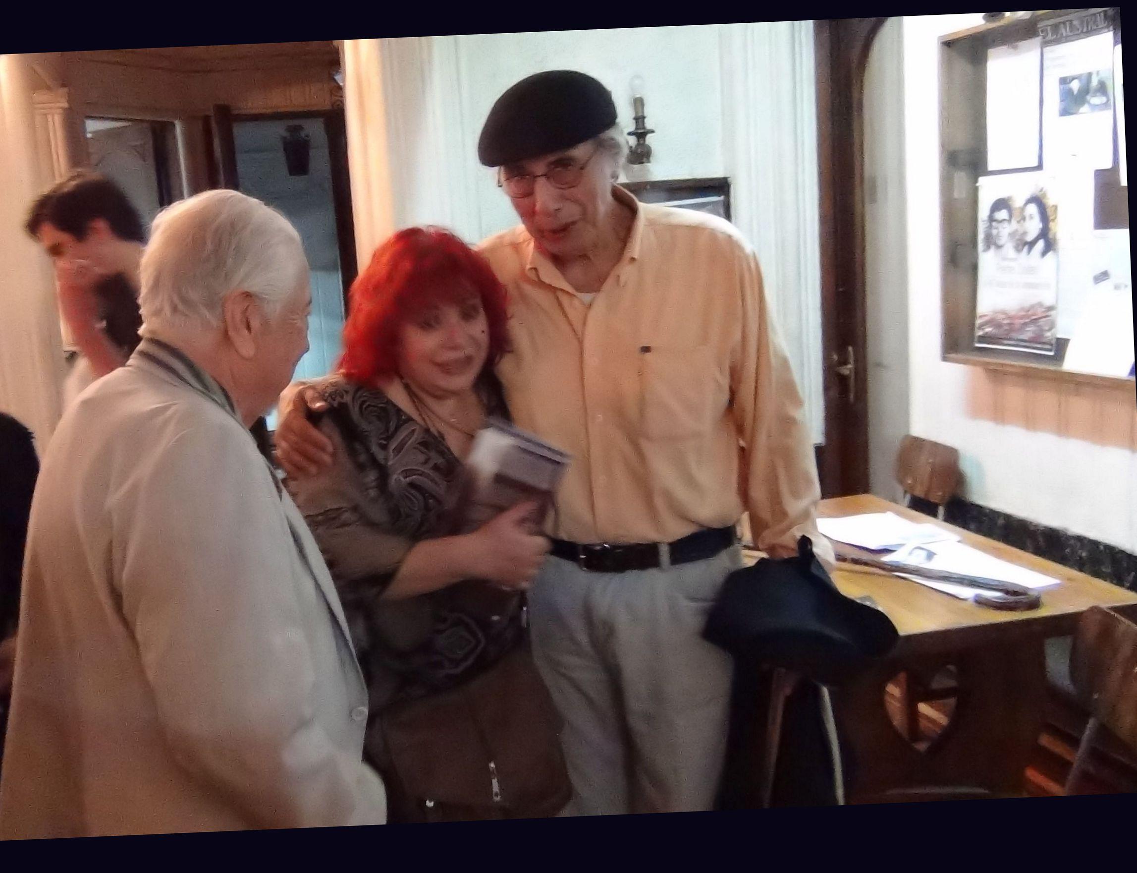 Con Santiago Cavieres y Mario Lorca