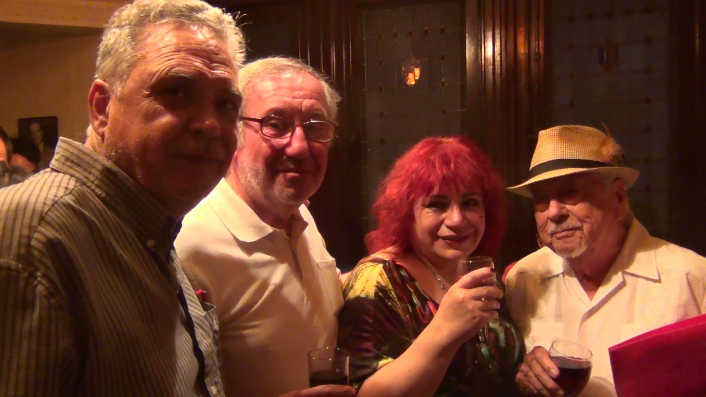 Con Alfredo Lavergne, Gregorio Angelcos y Santiago Cavieres