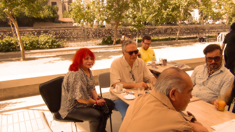 Amena tertulia en la FILSA 2014, con Rolando Rojo, Alfredo Lavergne y Ezra Cziczni-Rákóczi